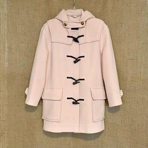 BURBERRY Duffle Pea Coat Wool Toggles Light Pink L
